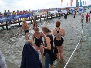 Empfang der Schwimmer